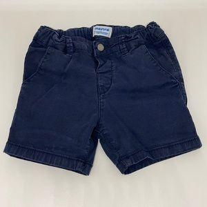 Mayoral navy blue chino shorts, size 24M